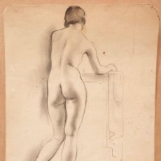 Arte: DIBUJO DESNUDO FEMENINO, FIRMADO OPISSO. 20,5X26CM. Lote 108871011