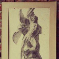 Arte: DIBUJO ESCULTURA CLÁSICA. PINTADO AL CARBONCILLO. SIGLO XIX. FRANCIA. Lote 109075903