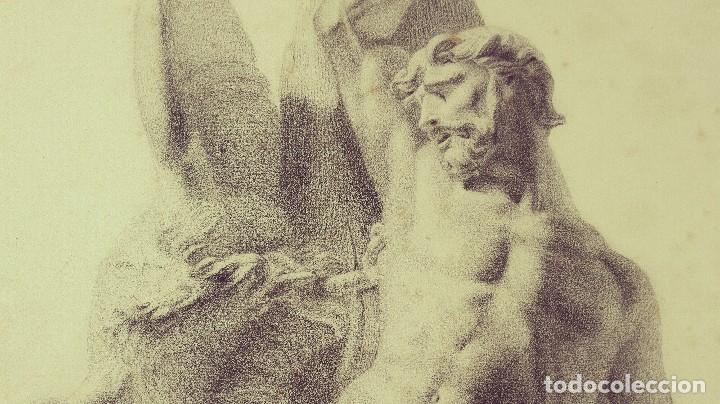 Arte: Dibujo Escultura Clásica. Pintado al Carboncillo. Siglo XIX. Francia - Foto 4 - 109075903