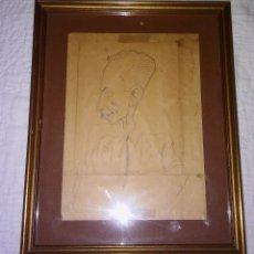 Arte: EXCLUSIVO DIBUJO CARICATURA, FIRMADO AUTOR JOSÉ ANTONIO IRUROZQUI CONOCIDO COMO IRU, MED. S XX. Lote 109196759