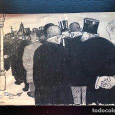 Arte: DIBUJO ORIGINAL FELIU ELIES APA. Lote 109205907