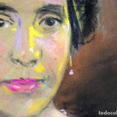 Arte: RETRATO DE DAMA. PASTEL SOBRE PAPEL. FIRMADO (SANTIAGO) RUBIO. ESPAÑA. 1941. Lote 109262523