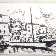 Arte: PASCUAL ROCH MINUE PUERTO POLLENSA . Lote 109271419