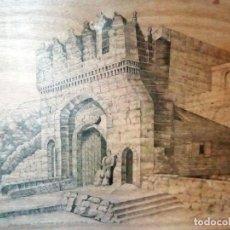 Arte: DIBUJO ORIGINAL DE - ANTIGUA VISTA DE PUERTA DE JERUSALEN - DE ARTISTA MIGUEL MOLERO.A TINTA CHINA S. Lote 109508907