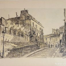 Arte: CALLE DE PARÍS. DIBUJO A TINTA Y ACUARELA. FRANCIA. A. GUERIN. CIRCA 1940. . Lote 109555263
