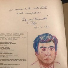 Arte: RETRATO DE IGNASI MUNDO SOBRE LIBRO MAESTROS ACTUALES DE PINTURA CATALANA.. Lote 109692419