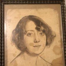 Arte: RETRATO DE MUJER JOVEN POR PASCUAL DE AYALA Y GALÁN (MURCIA 1902- CALI, COLOMBIA 1952). Lote 110154863