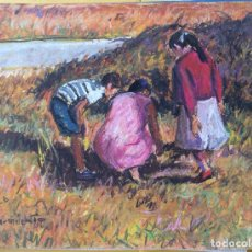 Arte: SARMIENTO F.D. DIBUJO A LA CERA FIRMADO,IDEAL COLECCIONISTAS . Lote 110271591
