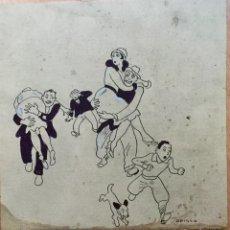 Arte: RICARDO OPISSO I SALA (TARRAGONA 1880- BCN 1966) DIBUJO A TINTA. Lote 195460160