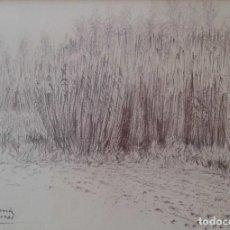 Arte: DIBUJO DE PERE SANROMÀ MAÑÁ (SABADELL 1935) . Lote 110323759