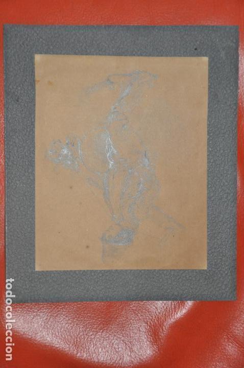 Arte: DIBUJO ORIGINAL A LÁPIZ SOBRE PAPEL , FIRMADO P.R. DEL S. XIX - Foto 3 - 110621087