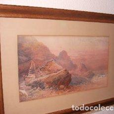 Arte: ATRIBUIDO A WILLIAM COOK . COSTA ROCOSA DE PERTH. DIBUJO S.XIX. Lote 110938143