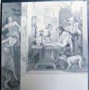Arte: DIBUJO A TINTA Y GRAFITO DE THEOBALD REINHOLD FREIHERR VON OER. Lote 111048207