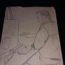 Arte: DIBUJO ANTIGUO ORIGINAL. AGRUPA ENVIOS Y AHORRA EN GASTOS. VER MIS OTROS ARTICULOS. ENVIO 4,50€.. Lote 111212130
