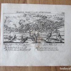 Arte: 1623- ANTEQUERA. MÁLAGA. VISTA CIUDAD. GRABADO ORIGINAL DE DANIEL MEISNER. . Lote 111333123