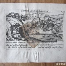 Arte: 1623- SANTANDER. CANTABRIA. VISTA CIUDAD. GRABADO ORIGINAL DE DANIEL MEISNER. . Lote 111334347
