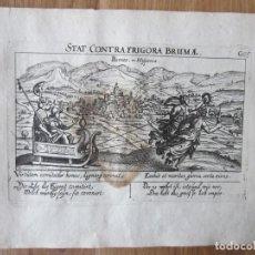 Arte: 1623- BORNES. PORTUGAL. VISTA CIUDAD. GRABADO ORIGINAL DE DANIEL MEISNER. . Lote 111335047
