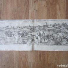 Arte: 1575- JEREZ DE LA FRONTERA. VISTA CIUDAD. CÁDIZ. GRABADO ORIGINAL DE BRAUN-HOGENBERG.. Lote 111341243