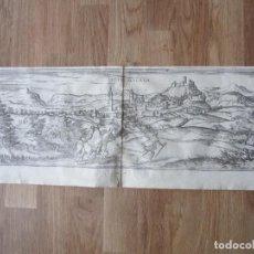 Arte: 1575- VELEZ MÁLAGA. VISTA CIUDAD. GRABADO ORIGINAL DE BRAUN-HOGENBERG.. Lote 111341383