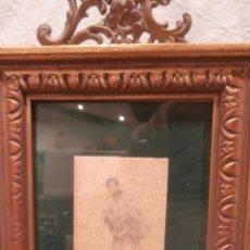 Arte: JOSE BENLLIURE GIL 1855-1937 DIBUJO FELICITACION A LOS VICENTES. Lote 111717803
