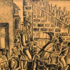 Arte: ORLANDO PELAYO ENTRIALGO (1920-1990) ACUARELA Y TINTA DE TEMA TAURINO. Lote 111844251