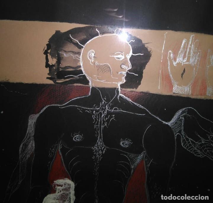 Arte: Eduardo Hernández Santos (Cuba 1966) Ser un espejismo intercambiable. Técnica mixta. Arte gay cubano - Foto 2 - 112142771