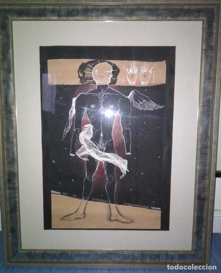Arte: Eduardo Hernández Santos (Cuba 1966) Ser un espejismo intercambiable. Técnica mixta. Arte gay cubano - Foto 6 - 112142771