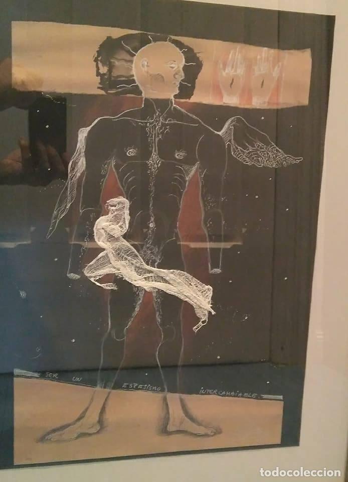 Arte: Eduardo Hernández Santos (Cuba 1966) Ser un espejismo intercambiable. Técnica mixta. Arte gay cubano - Foto 10 - 112142771