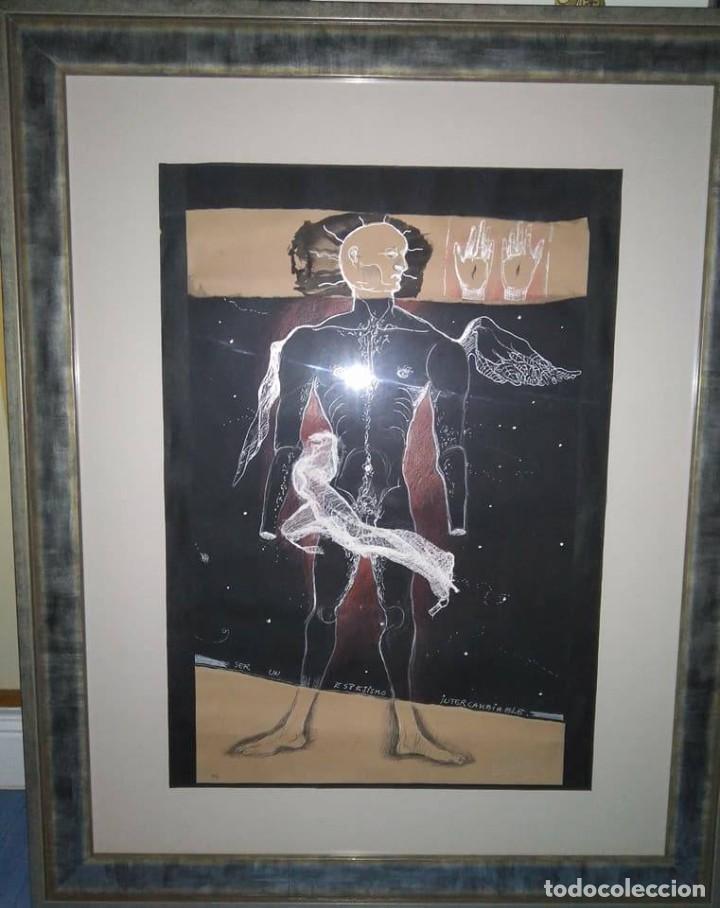 Arte: Eduardo Hernández Santos (Cuba 1966) Ser un espejismo intercambiable. Técnica mixta. Arte gay cubano - Foto 12 - 112142771