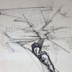 Arte - INTERESANTE DIBUJO, ENMARCADO. FIRMA ILEGIBLE. BUEN TRAZO. - 112143370