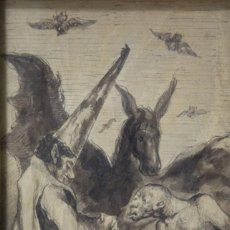 Arte: DIBUJO AGUATINTA S. XIX, DE EUGENIO LUCAS VELÁZQUEZ, MADRID 1817-1870, PINTOR ROMÁNTICO, GOYA.. Lote 112305755