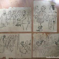Arte: MISCELÁNEA DE DIBUJOS A TINTA DEL PRIMER TERCIO DEL SIGLO XX. Lote 112768051