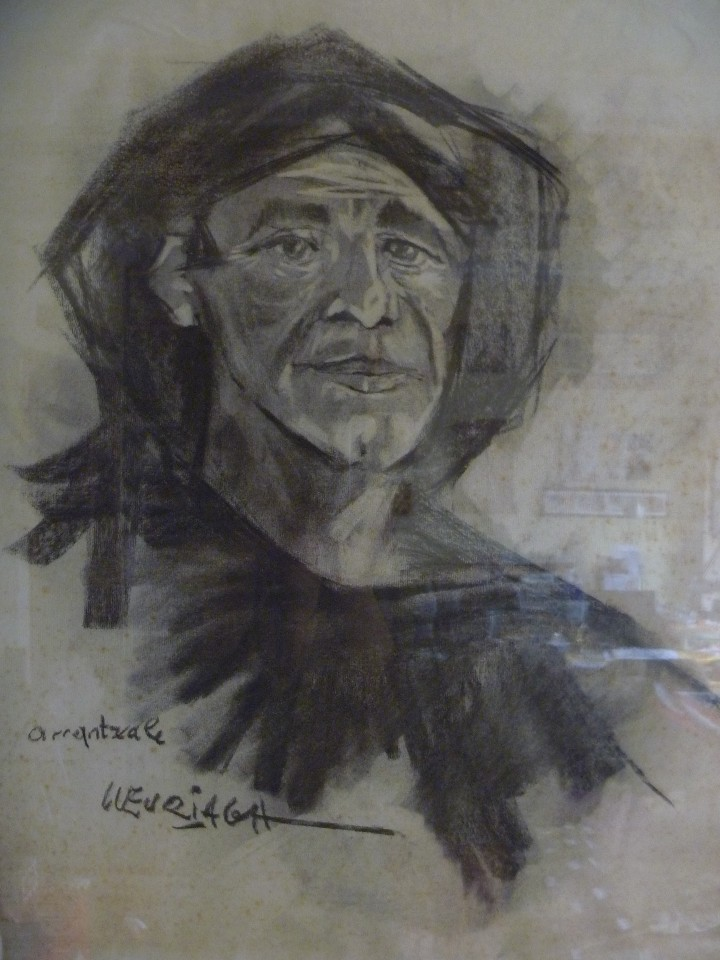 Arte: ARRANTZALE EXTRAORDINARIO RETRATO LUZURIAGA JUAN RAMÓN PINTURA PESCADOR VASCO - Foto 2 - 112787343