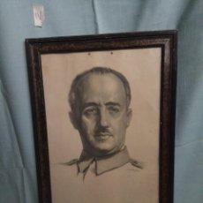 Arte: RETRATO DE FRANCO, ENMARCADO CON CRISTAL, DIBUJO O REPRODUCCIÓN, FIRMADO CRISPÍN. Lote 112803691