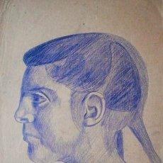 Arte: JORDI CUROS CERAS/PAPEL 36 X 25 CM. JOVEN. FIRMADO Y FECHADO 1954.. Lote 112925519