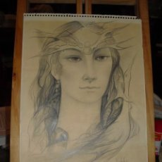 Arte: RETRATO LAPIZ. MICHELE BROEDERS 75. 31X23. . Lote 113042179