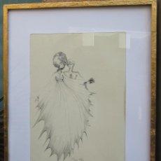Arte: ESPECTACULAR DIBUJO TINTA-CUADRO RÉGIS DHO (1947) ORIGINAL. Lote 113144755