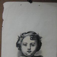 Arte: DIBUJO AL CARBONCILLO - FIRMADO GUTIERREZ. Lote 113356011