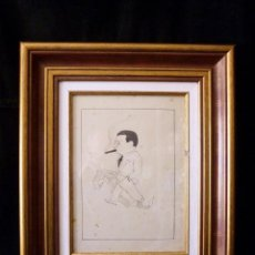 Arte: ANTIGUA CARICATURA EMPRESARIO EDITOR DIRECTOR PERIÓDICO. POSIBLE EMILIO PENACH RAMOS (MILO). AÑOS 30. Lote 113431439