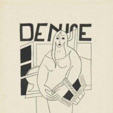 Arte: JUAN GRIS (1887-1927) . DENISE . DIBUJO A LÁPIZ Y TINTA SOBRE PAPEL . MAGNÍFICA PIEZA ORIGINAL. Lote 113828787