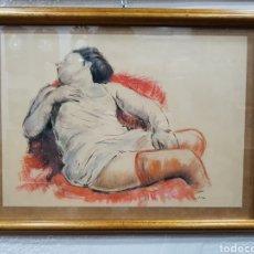 Arte: FIGURA DIBUJADA A CERA DE V. CORELLA. Lote 113929818