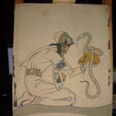 Arte: ANTIGUO DIBUJO 40X26, C. 1930,ART DECO, FIRMA, . Lote 113973423