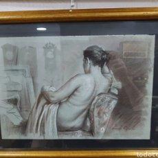 Arte: DIBUJO DE DESNUDO A CARBONCILLO DE V. CORELLA. Lote 113995839
