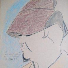 Arte: JORDI CURÓS VENTURA (1930). LÁPIZ Y CERAS SOBRE PAPEL. 1952. FIRMADO Y FECHADO. Lote 114091579
