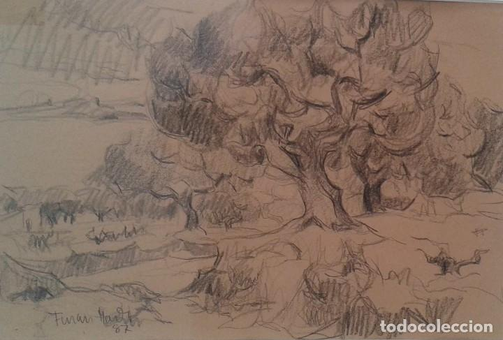 FERRAN MARTÍ TEIXIDOR. PINTOR NACIDO EN SABADELL EN 1943 (Arte - Dibujos - Contemporáneos siglo XX)