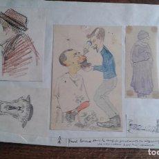 Arte: ANTIGUO LOTE DE DIBUJOS. DE UN CAMPO DE CONCENTRACION ALEMAN CON PRISIONEROS FRANCESES AÑO 1916. Lote 114267735