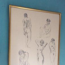 Arte: JOSEP GIRONA SEGURA , BONITO DIBUJO ESTUDIO FIGURA MUJER.. Lote 114449031
