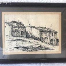 Arte: DIBUJO A TINTA FIRMADO J.MIRO 1946 FIGUERAS. . Lote 142391397
