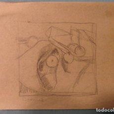 Arte: PIERRE BONNARD ARTISTA FRANCES DIBUJO,BOSQUEJO EN PAPEL FIRMADO. Lote 114544363