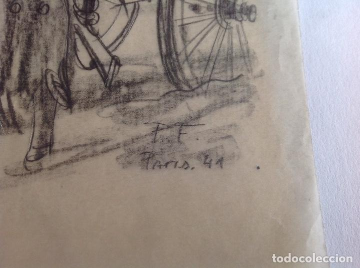 Arte: P. F. Escena con militar y carretero. - Foto 2 - 114627991